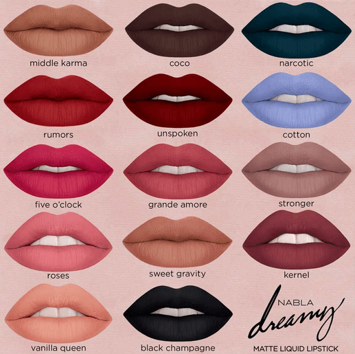Dreamy matte liquid lipsticks
