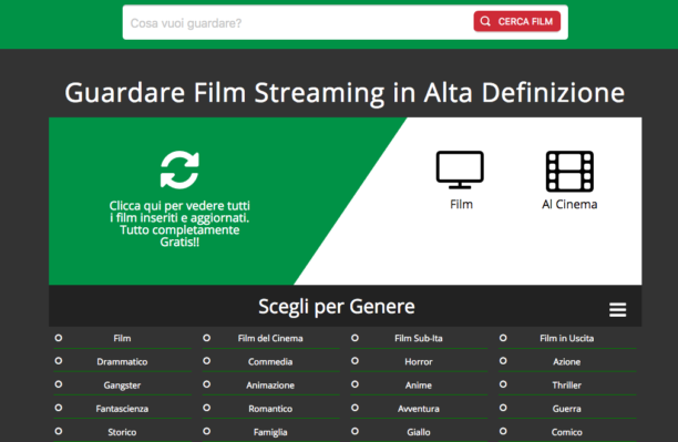 siti streaming- serie tv-film